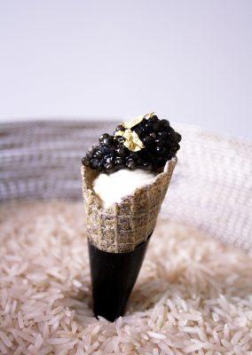 Le cornet au caviar